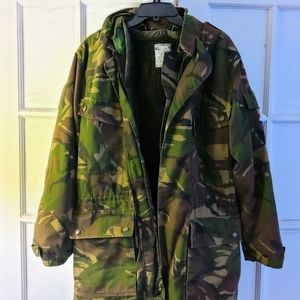 Mens camo Military convertible jacket size L